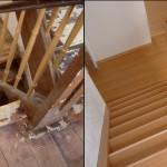 Holztreppe, Buche rot, Laminat