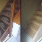 Holztreppe 10 Jahre alt