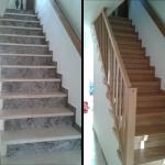 Treppe Marmor und Eisengeländer
