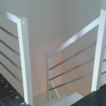 Treppe mit Stahluk, vorher Wendeltreppe